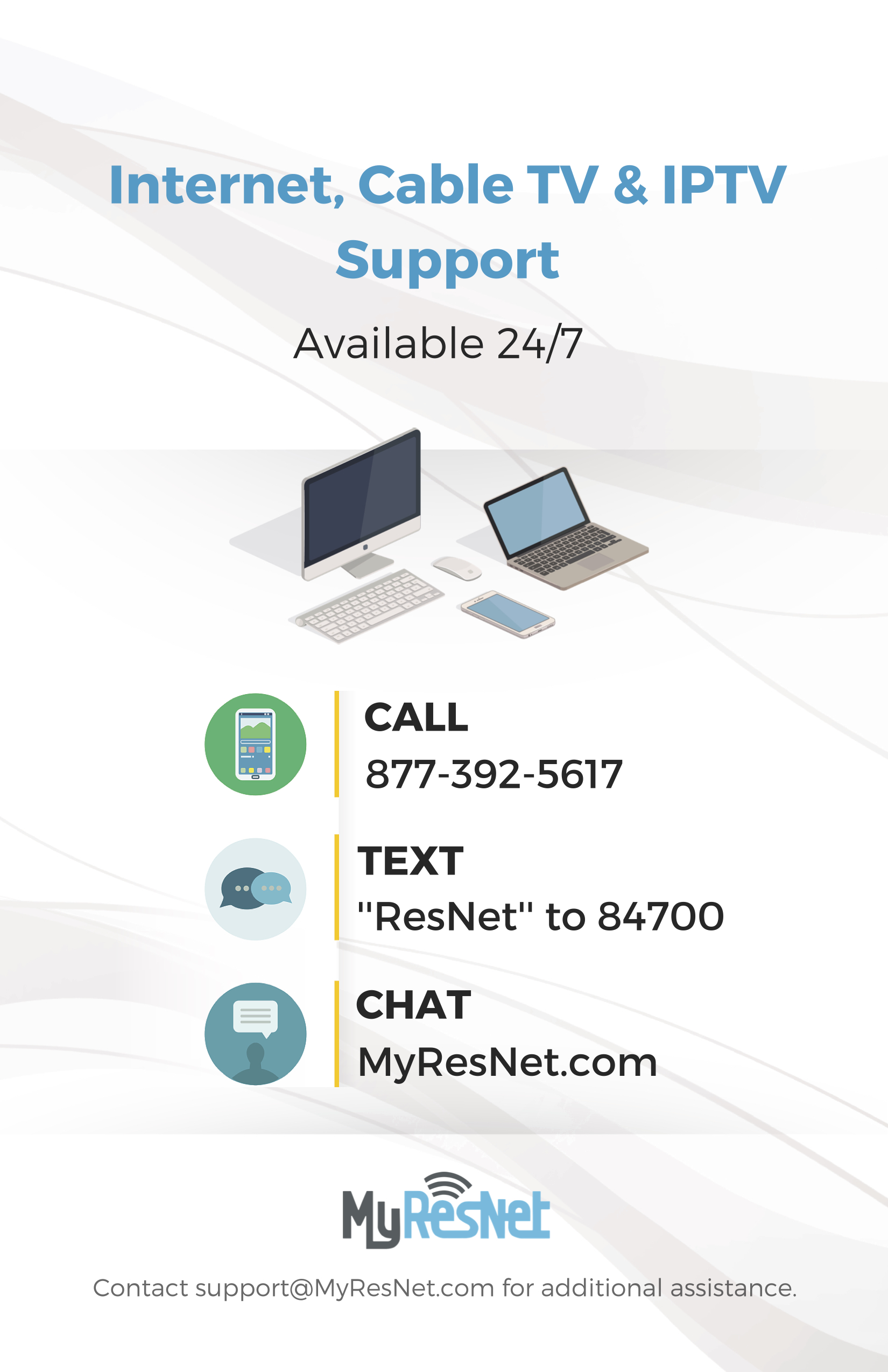 image of Apogee help desk information poster